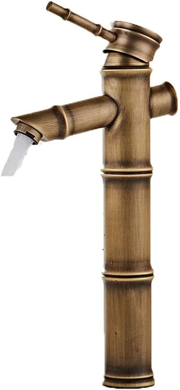 XINXI HOME All copper antique faucet hot and cold basin faucet European faucet bathroom sink faucet b single cold