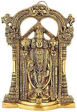 SP Handicrafts Metal Tirupati Balaji Idol   Lord Sri Venkateswara   Incarnation of Lord Vishnu Sculpture for Blessing, - 27 c