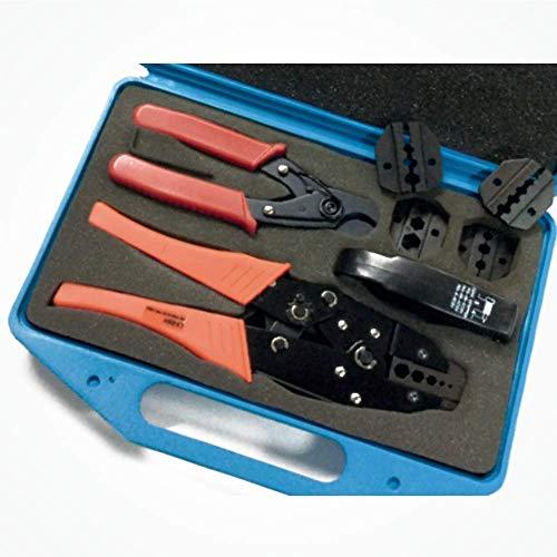 Silex Kit Maletín Profesional Tenazas Crimpado Conectores Coaxiales RG y LMR KT2. Para crimpado de conectores/cables coaxiales