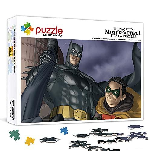1000 Piezas Mini Rompecabezas para Adultos Batman y Robin Paper Puzzlemini Puzzle Juguete Regalo de cumpleaños 38X26Cm 38X26Cm