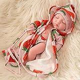ETbotu 10 Zoll Simulation Puppe Durable Vinyl Reborn Puppe Baby Spielzeug QW-10 Erdbeer Nachthemd Junge mit geschlossenen Augen