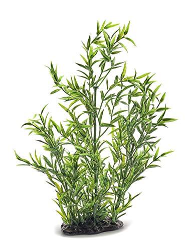 Pistachio Pet - Hermosa planta de acuario realista con base de 13/34 cm de alto