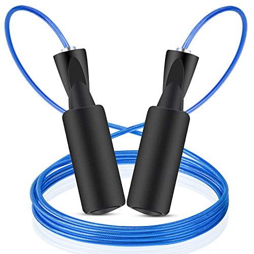 Joycoo Springseil Speed Rope Springseil Erwachsene mit Gut Qualitativen Kugellagern Länge Einstellbar Jump Rope Für Fitness, Ausdauer & Abnehmen