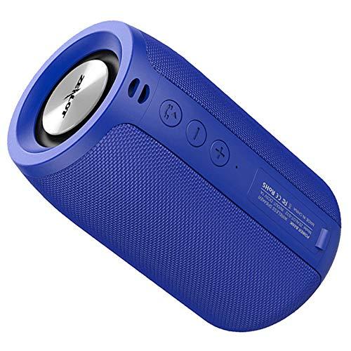 Zealot Altavoz Bluetooth inalámbrico,Caja de Sonido portátil HiFi Subwoofer Sonido estéreo,Micrófono Tarjeta TF/BT/AUX Entrada de línea 3 Modos de reproducción para Acampar Viajes Senderismo