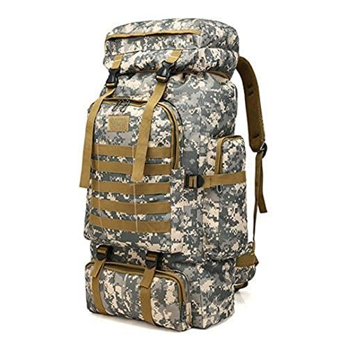 80 L kapacitet män armé militär taktisk stor ryggsäck vattentät utomhussport vandring camping jakt 3D ryggsäckar väskor 6 Other