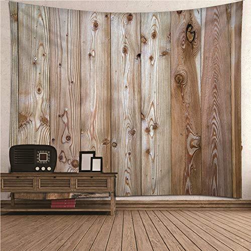 Aimsie Wandteppich, Holzthema Wandtuch Kinderzimmer Polyester Wandteppich Wald Wandteppich Khaki 300X260Cm