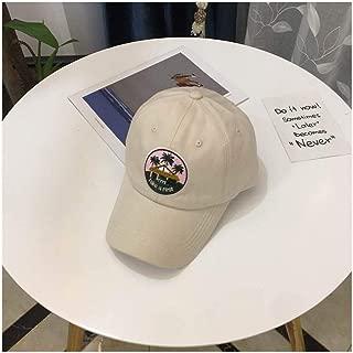 Hats Female Summer Versatile Leisure Visor Cap Baseball Cap Fashion (Color : Beige, Size : F/56-59cm)