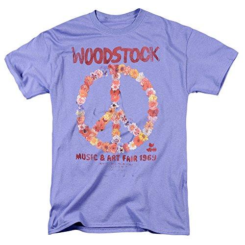 Popfunk Woodstock Peace Symbol Lavender T Shirt & Stickers (X-Large)