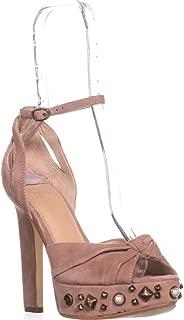 Womens Kenzie Suede Studded Platform Heels