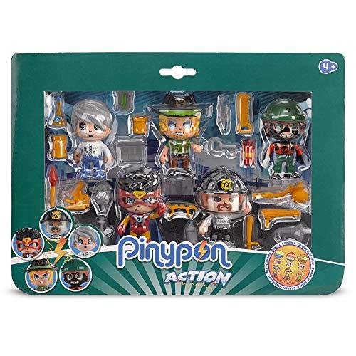 Giochi Preziosi Pinypon Action Figures Multipack 5 figuras con funciones Mix&Match y accesorios , color/modelo surtido