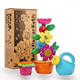 OleOletOy Baby Bath Toy- With 4 Colored Stacking Cups; Best Bathtime Fun Toys with Suction Cups for Bathtub- Kids BPA Free Water Toy
