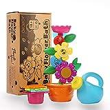 OleOletOy Baby Badespielzeug Set - Süße Blume Wassermühle und 4