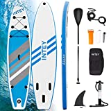 INTEY Tabla Paddle Surf Hinchable 320×76×15cm, Sup Paddle Remo Ajustable, Tabla Stand Up Paddle Board, Bomba de Doble, Seguridad