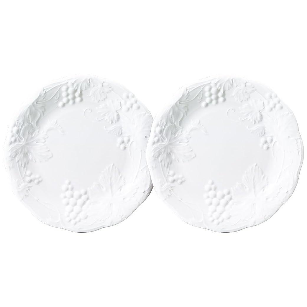 護衛広告する一般化するNARUMI(ナルミ) プレート 皿 セット ギフトギャラリー ホワイト 径26cm 2枚セット 日本製 1023-23130