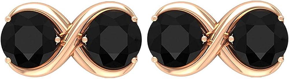 1.25 CT Minimal Infinity Stud Tucson Mall Earrings Q Diamond AAA Black Ranking TOP12 with