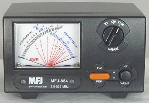 MFJ-884 MFJ884 Original MFJ Enterprises 200 W 1.8-525 MHz Cross Needle SWR/Wattmeter