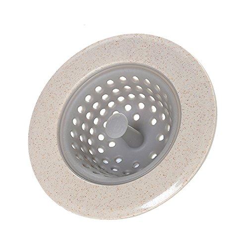 1 stuks siliconen tarwe stro zeef afvoerfilter keuken wastafel afvoer Approx diameter: 11cm Beige