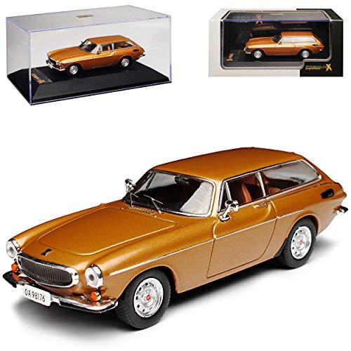 Volvo P1800 ES Schneewittchensarg Gold Champagner 1971-1973 1/43 IXO PremiumX Modell Auto mit individiuellem Wunschkennzeichen