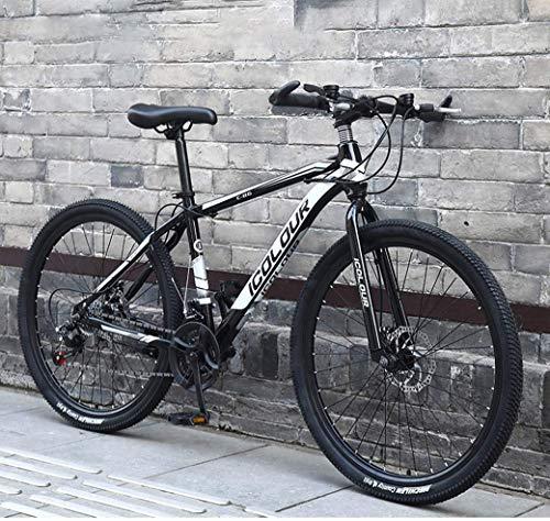 CENPEN Bicicleta de montaña de 26 pulgadas para adultos, marco de aluminio ligero, frenos de disco delantero y trasero, giros a través de 21 velocidades (color : D, tamaño: 21 velocidades)