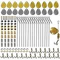 Spinner Making Kit Spinner Parts Assortment Spinnerbait Accesory DIY Shaft Spinner Blade