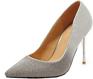 SJJH Women Dressy Court Shoes with Stiletto and Pointed Toe