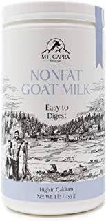 Goat Milk by Mt. Capra | CapraMilk (Non-Fat) an Easy to Digest, Non-GMO Goat Milk Powder from Grass Fed Pastured Goats - 1...