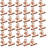 Aardich Clips de Dogo Bisagra Clips de Papel Lima de Metal bisagra para la Cocina del Ministerio del Interior Accesorios de Oro Rosa 35PCS