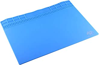 Good OSS Team Maintenance Platform High Temperature Heat-resistant Magnetic Anti-static Repair Insulation Pad Silicone Mats, Size: 35 x 25cm (Grey) Zhaoyy (Color : Blue)