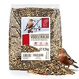 wildtier herz I Vogeltraum Vitalmix Sommerfutter - Premium Insekten Vogelfutter, Wildvogel-Futter extra Protein für Eltern, Brut und Jungvögel, Vogel Streufutter, Fettfutter Vögel (2,5kg)