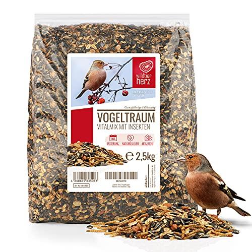 wildtier herz | Alimentación para Pájaro - 2,5kg con Insectos - Comida de Aves para Alimentos, Proteína Extra