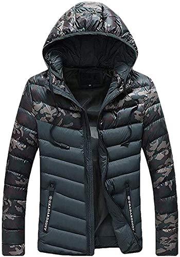 Men Autumn Down Puffer Fashion Camo Coats Parka Jackets Overcoats