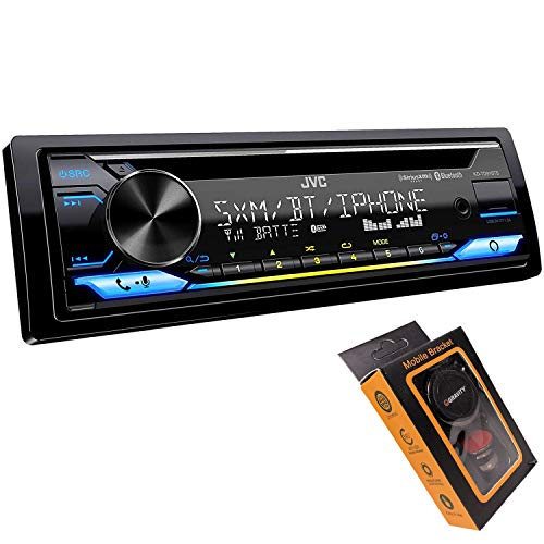 JVC KD-TD91BTS - CD Receiver Featuring Bluetooth, Front USB, AUX, Amazon Alexa, SirusXM Ready with Magnet Phone Holder