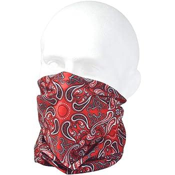 Women /& children Men Ruffnek CLASSIC RED /& BLACK PAISLEY BANDANA MULTI SCARF Multifunctional Neck warmer Motorbike mask