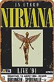 None Branded Nirvana In Utero Live'94 Metall Blechschild