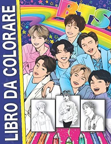 BTS Libro da colorare: pagina da colorare non ufficiale - anti-stress - Bangtan Boys - KPOP & Army Fans - per bambini e adulti