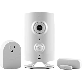 Piper classic All-in-One Security System with Video Monitoring Camera with Door/Window Sensor and Smart Switch, White
