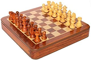 Royal Gangamani Fashions Wooden Magnetic Chess Board & Pieces Set (Square 5 Inch )