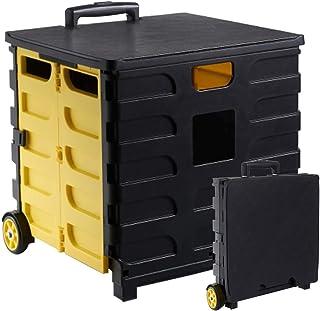 kalili キャリーカート 折り畳み式 耐荷重35㎏ 軽量 携帯便利 2段階グリップ タイヤ付き ふた付き チェア テーブル 420x420x390㎜