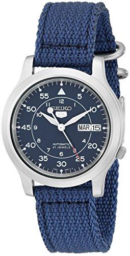 Seiko Herren-Armbanduhr 5 Gent Analog Automatik Textil SNK807K2