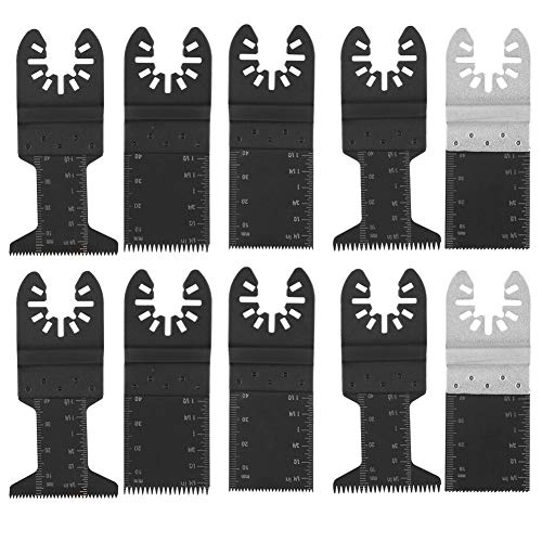 10 Klingen für oszillierende Sägen, Holz/Metall und Kunststoff Klingen für Schnellspanner Multitool für Dewalt Ridgid-Handwerker Milwaukee Rockwell Ryobi und mehr