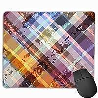 マウスパッド、ステッチエッジ付きマウスパッド、コンピューター用の抽象的な滑り止めラバーベースゲーミングマウスパッド