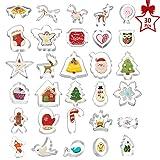 Ausstechformen Weihnachten 30-teilig, XXYL Keksausstecher, Plätzchen Ausstecher unterschiedliche Größen, Cookie Cutter
