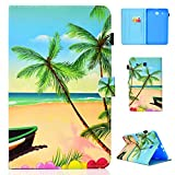 YKTO Coque Samsung Galaxy Tab E 9.6 Pouces 2015 Étui PU Cuir Flip Support Style Portefeuille Housse...
