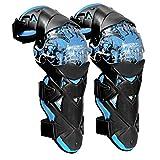H HILABEE Motocicleta ATV Motocross Codo Rodilleras Espinilleras Almohadillas Frenillos Equipo de Protección para Moto Bicicleta de Mmontaña Bicicleta - Azul