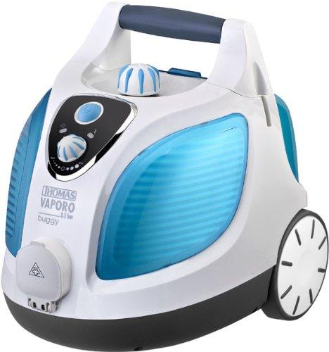 Thomas 792023 Limpiador a vapor, 1500 W, Azul, Color blanco