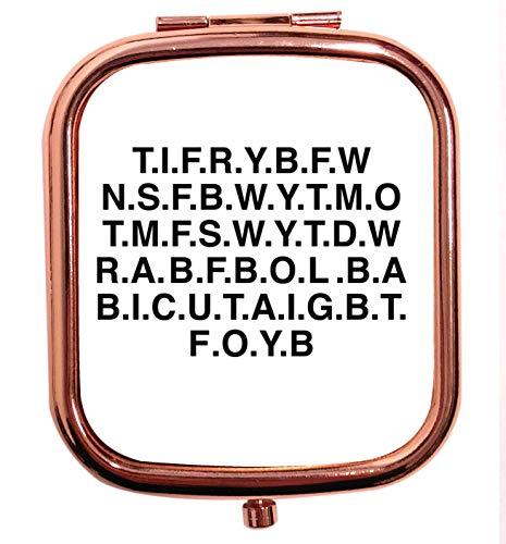 Flox Creative Miroir carré carré doré rose pour Rachael