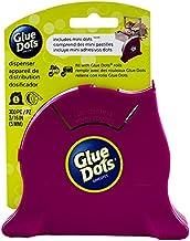 "Glue Dots 32900 .375"" Desktop Dispenser with 300 Mini, 300 x 3/16 inch Discs, Raspberry"