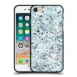 Head Case Designs Licenciado Oficialmente Micklyn Le Feuvre Patrón Art Deco de Hielo y Diamantes Patrones de mármol Funda de Gel Negro Compatible con Apple iPhone 7 / iPhone 8 / iPhone SE 2020
