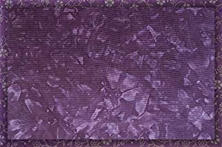 Hand-Dyed 16 Count Aida Cloth 17 x 19 Cross-Stitch Fabric Purple Passion