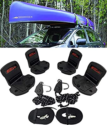 Car Racks & Carriers Kayak/Canoe Carrier Universal Kayak Rack Canoe Carrier with Bow and Stern Lines